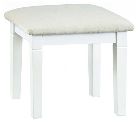 Stratford White Painted Stool